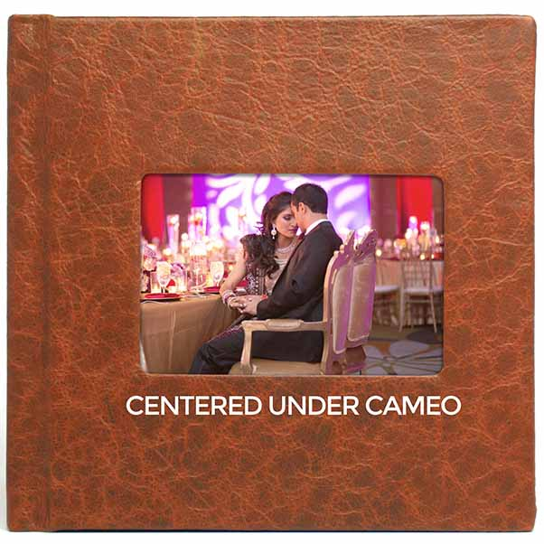 Centered under cameo
