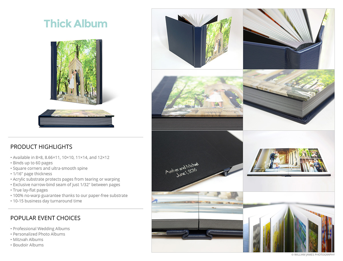 Photo Albums Direct Product Info Sheets - Thick Album